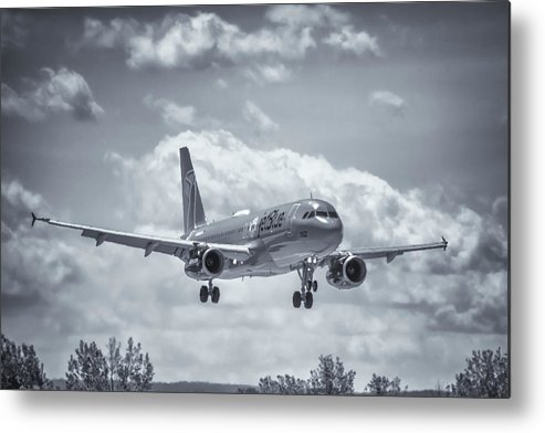 Air Travel Metal Print featuring the photograph A320 On Approach by Guy Whiteley