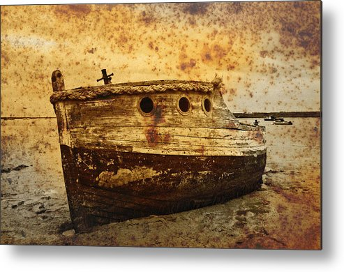 Texture Metal Print featuring the photograph Abandoned by Gareth Davies
