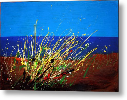 Ibiza Metal Print featuring the painting Abstract Ibiza by Mario Zampedroni