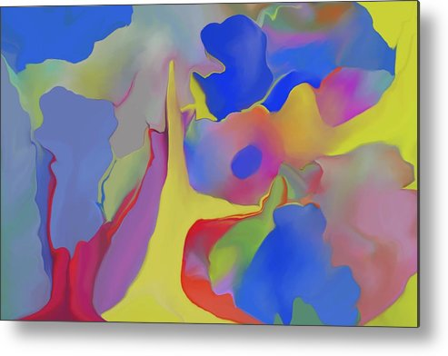 Abstract Metal Print featuring the digital art Abstract Landscape by Peter Shor
