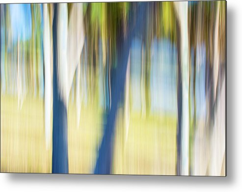 Moving Metal Print featuring the digital art Abstract Moving Trees 30 by Gene Norris