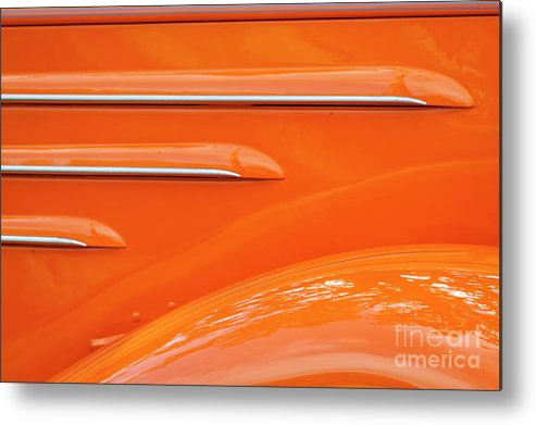 Chevrolet Metal Print featuring the photograph Abstract Orange '35 by Dennis Hedberg