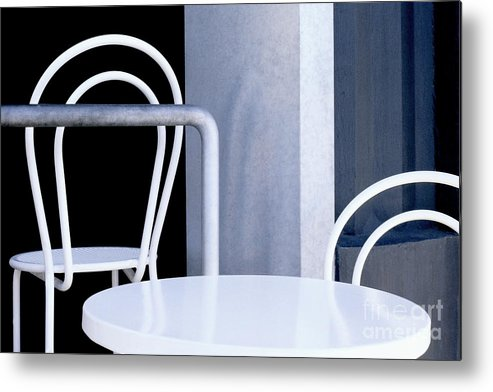 Abstract Metal Print featuring the photograph Abstract Urban Streetscape Photography - by Sharon Hudson