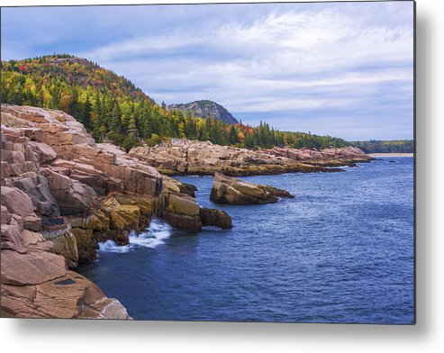 Acadia's Coast Metal Print featuring the photograph Acadia's Coast by Chad Dutson