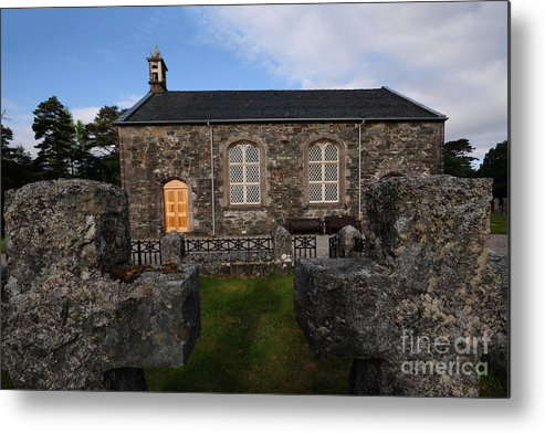 Acharacle Metal Print featuring the photograph Acharacle Church by Smart Aviation
