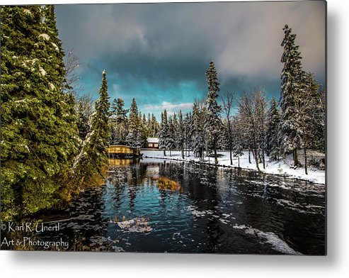 Michigan Metal Print featuring the photograph Across The Dam by Karl Unertl