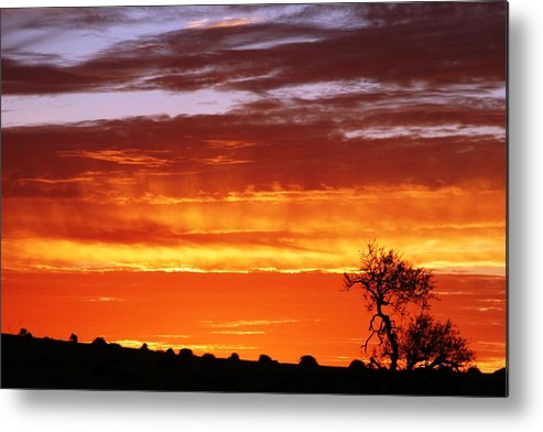 Sunset Metal Print featuring the photograph African Sunset by Linda Russell