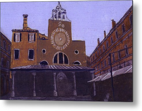 Landscape Metal Print featuring the painting After Campo San Giacometto by Hyper - Canaletto