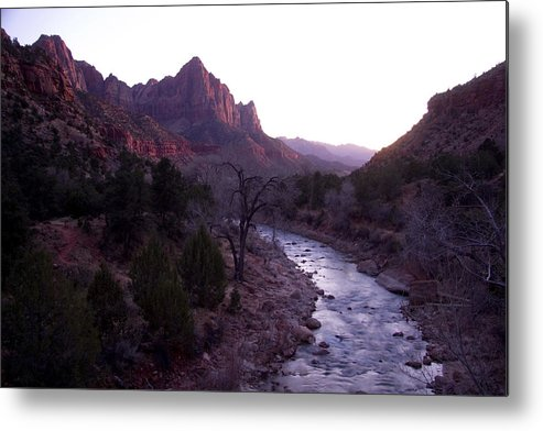 Utah Metal Print featuring the photograph After Sunset The Light Glows by Taylor S. Kennedy