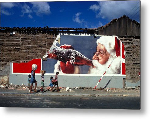 Poverty Metal Print featuring the photograph After The Earthquake by Carl Purcell