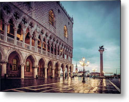 Venice Metal Print featuring the photograph After The Rain At St. Mark's by Andrew Soundarajan