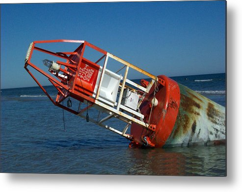 Buoy Photography Metal Print featuring the photograph After The Storm by Evelyn Patrick