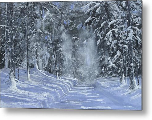 Snow Metal Print featuring the painting After The Storm by Ken Ahlering