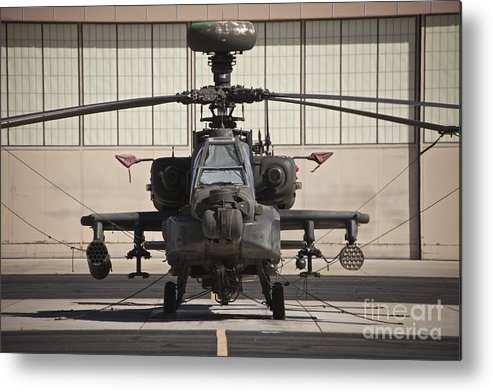 Exercise Angel Thunder Metal Print featuring the photograph Ah-64d Apache Longbow At Pinal Airpark by Terry Moore