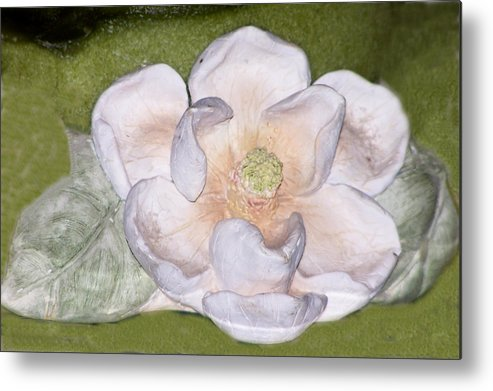 Flower Metal Print featuring the digital art Alien Bloom by Chuck Shafer