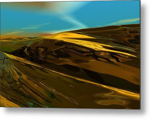 Landscape Metal Print featuring the digital art Alien Landscape 2-28-09 by David Lane