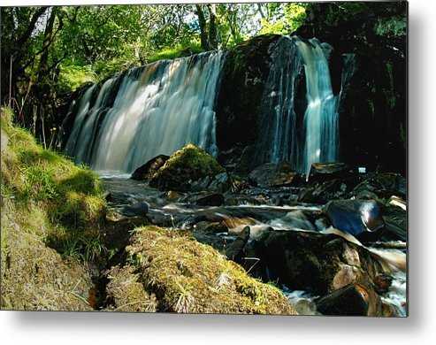 Waterfall Metal Print featuring the photograph Allt Beochlich Waterfall by Steve Watson