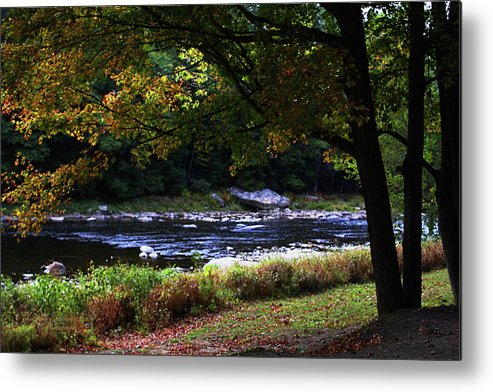 Riverbank Metal Print featuring the photograph Almost Autumn by Darlene Bell