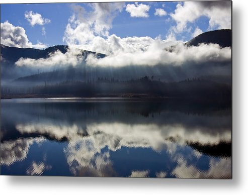 Heavenly Light Metal Print featuring the photograph Almost Heaven by Mike Dawson