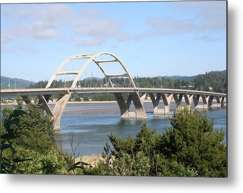 Alsea Metal Print featuring the photograph Alsea Bridge Br 7002 by Mary Gaines