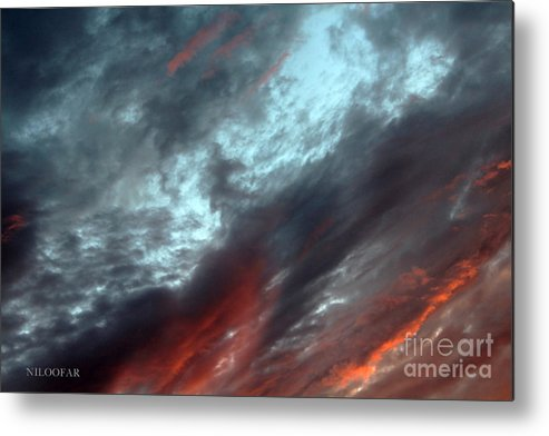 Photography Metal Print featuring the photograph Amazing Clouds by Niloofar Ojani