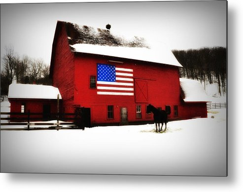 America Metal Print featuring the photograph American Barn by Bill Cannon