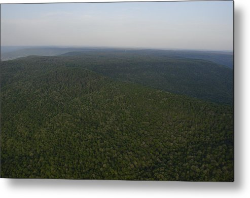 Cumberland Plateau Metal Print featuring the photograph An Aerial View Shows The Forests by Stephen Alvarez