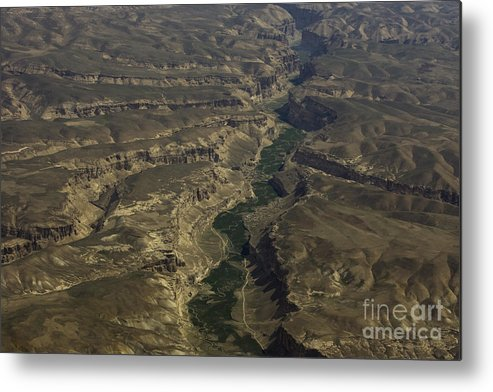 Aerail Metal Print featuring the photograph An Afghan Valley by Tim Grams