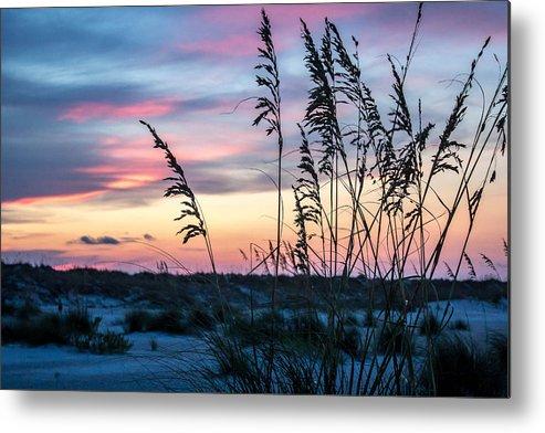 Anastasia State Park St Augustine Florida East Coast Sand Dunes Pastels Sunset Landscape Scenics Parks Metal Print featuring the photograph Anastasia Sunset by Nikki Brubaker