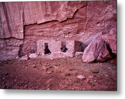 Mystery Valley Metal Print featuring the photograph Ancient Ruins Mystery Valley Colorado Plateau Arizona 04 by Thomas Woolworth