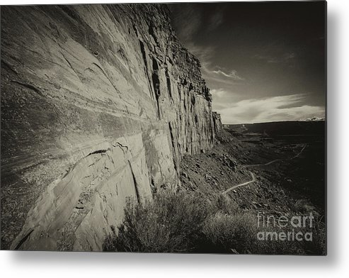 Utah Landscape Metal Print featuring the photograph Ancient Walls by Jim Garrison