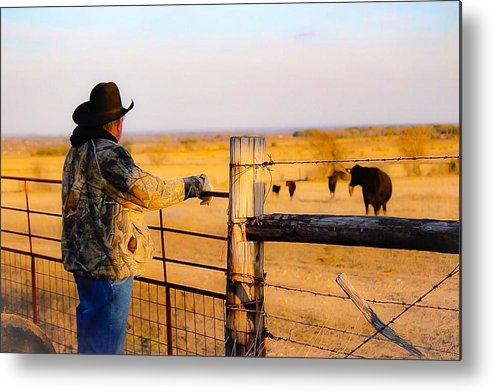Hay Metal Print featuring the photograph And God Made A Rancher by Jeanie Mann