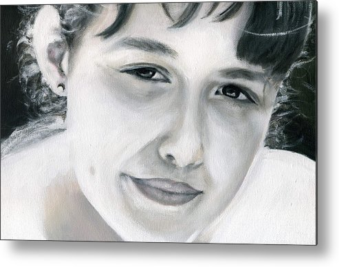 Portrait Metal Print featuring the painting Ane by Fiona Jack