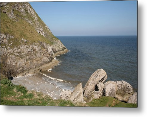 Cliffs Metal Print featuring the photograph Angel Bay. Little Orme. by Christopher Rowlands