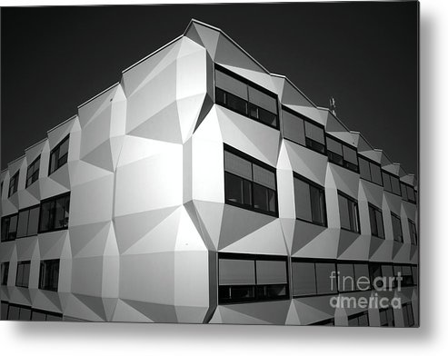 Black And White Metal Print featuring the photograph Angular Architecture by Robert Peterson