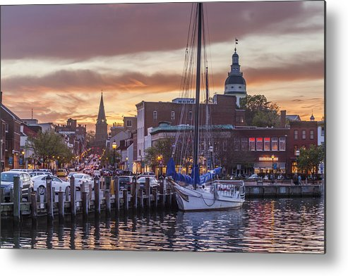 Annapolis Metal Print featuring the photograph Annapolis Harbor by Richard Nowitz