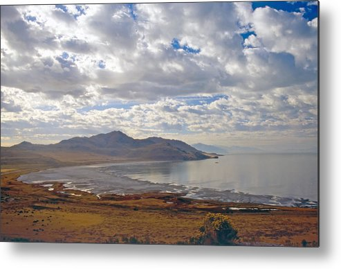 Bay Metal Print featuring the photograph Antelope Island 2 by Steve Ohlsen