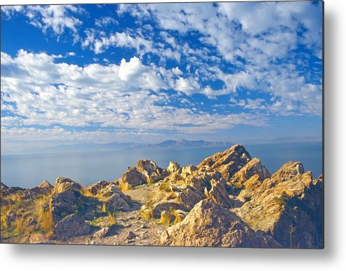 Landscape Metal Print featuring the photograph Antelope Island 4 by Steve Ohlsen