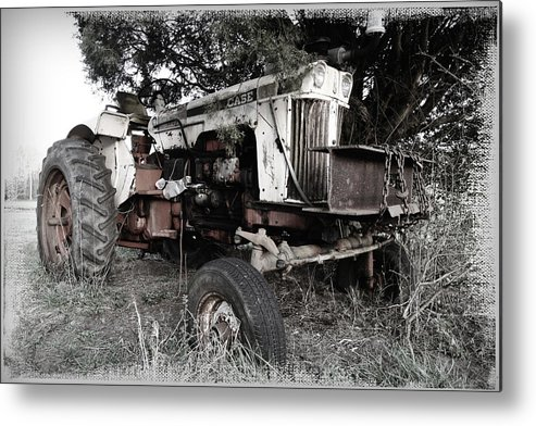 Case Metal Print featuring the photograph Antique Case Tractor by Patricia Montgomery