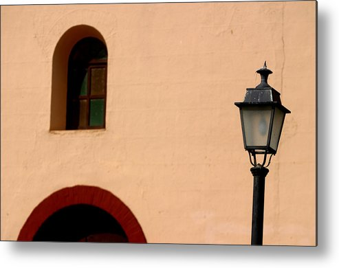 Photographer Metal Print featuring the photograph Arched Lamp 2 by Jez C Self