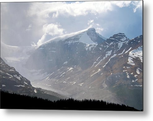 Moraine Lake Metal Print featuring the photograph Arising Storm Over Glacier by Andre Distel