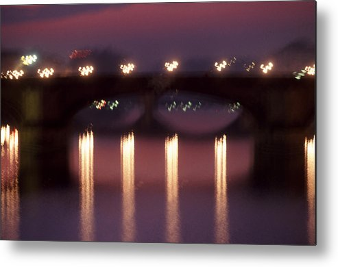Bridge Metal Print featuring the photograph Arno River Reflections by Brad Rickerby