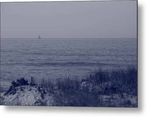 Sailboat Metal Print featuring the photograph At Sea by Christopher Kirby