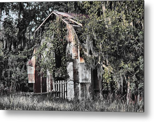Barn Metal Print featuring the photograph At The Barn by Greg Sharpe