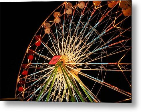 Ferris Wheel Metal Print featuring the photograph At The County Fair by Joe Kozlowski