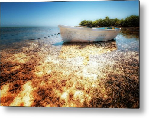 Boat Metal Print featuring the photograph At The Edge Of The Ocean by Heather Allen