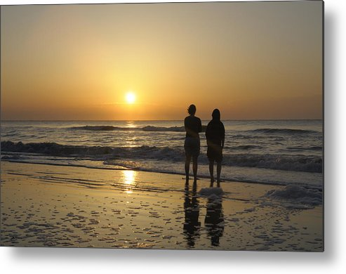 Kids Metal Print featuring the photograph Atlantic Ocean Sunrise by Darrell Young