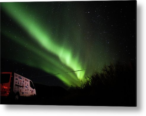 Aurora Metal Print featuring the photograph Aurora Borealis - 3 by Perggals - Stacey Turner