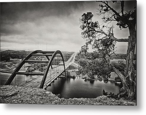 360 Bridge Metal Print featuring the photograph Austin 360 Bridge In Early Dawn by Lisa Spencer