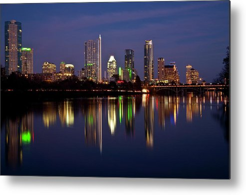 Austin Metal Print featuring the photograph Austin Skyline by Mark Weaver